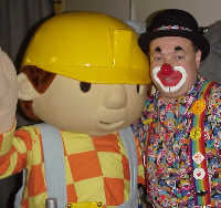 DJ the Clown, with Bob the Builder.