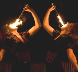 Female fire eaters