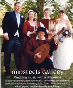 Minstrels Gallery music for weddings