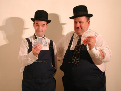 Laurel and Hardy magicians