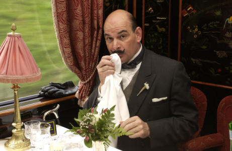 Hercule Poirot on the Orient Express