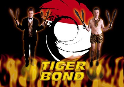 Andy Wood's alter ego - Tiger Bond.