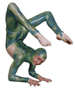 Rubber Ritchie, lizard contortionist