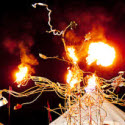 Fire sculpture  from circusperformers.co.uk and Auroras Carnival