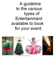 A guideline to the various types of entertainment available to book for your event,